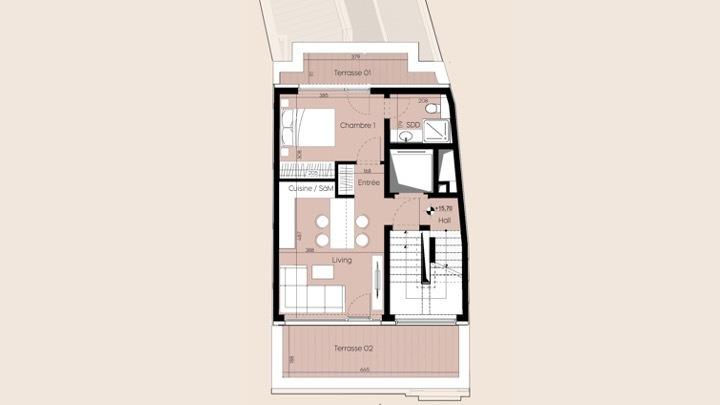 penthouse-wohnung kaufen 2 schlafzimmer 60 m² luxembourg foto 3