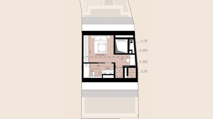 penthouse-wohnung kaufen 2 schlafzimmer 60 m² luxembourg foto 4