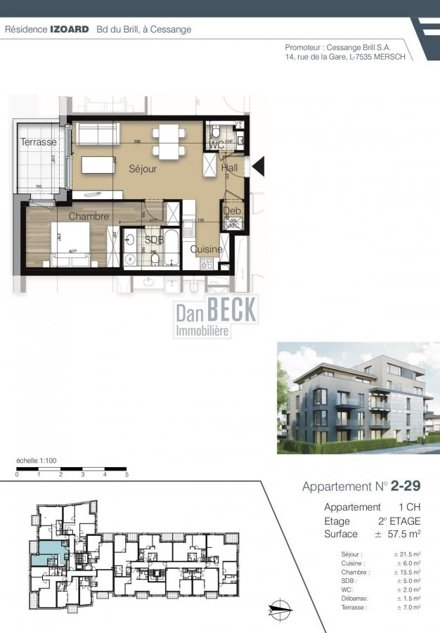apartment for buy 1 bedroom 57.5 m² luxembourg photo 2