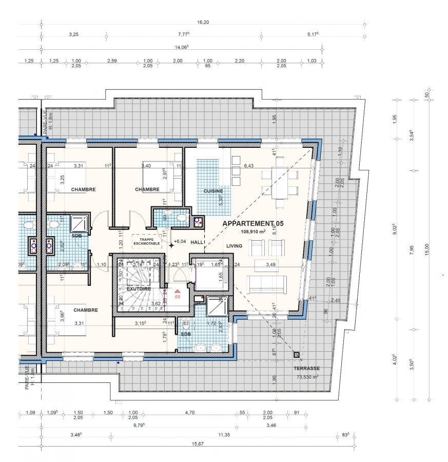 acheter penthouse 3 chambres 108.91 m² boevange-sur-attert photo 3