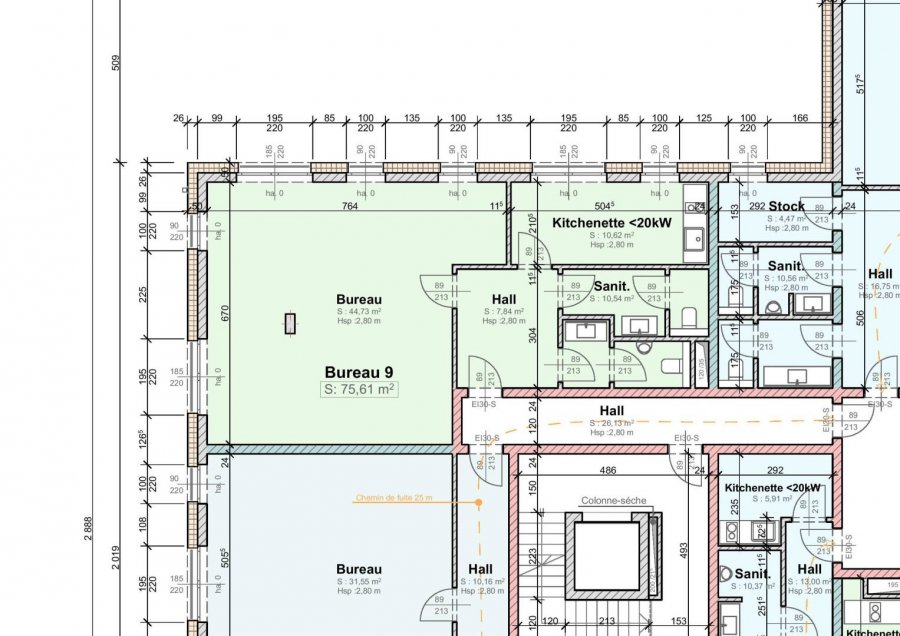 acheter bureau 1 chambre 75.61 m² wemperhardt photo 1