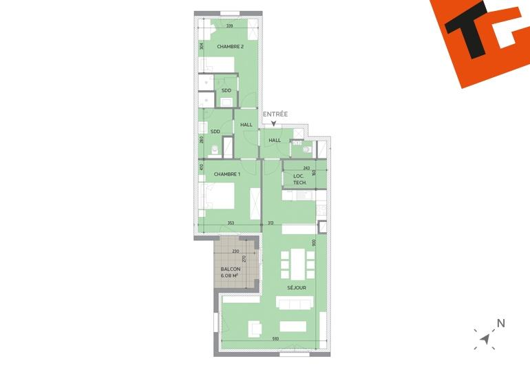 apartment for buy 2 bedrooms 91.78 m² howald photo 2