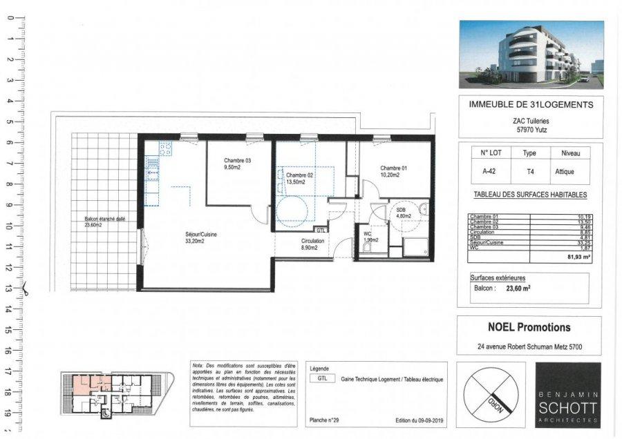 acheter appartement 4 pièces 81 m² yutz photo 1