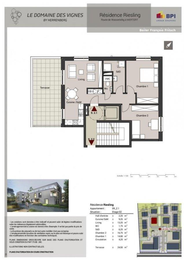 acheter penthouse 2 chambres 73 m² mertert photo 3
