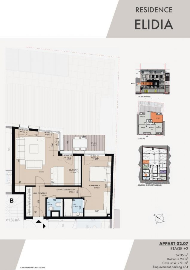 wohnung kaufen 1 schlafzimmer 59.72 m² luxembourg foto 2