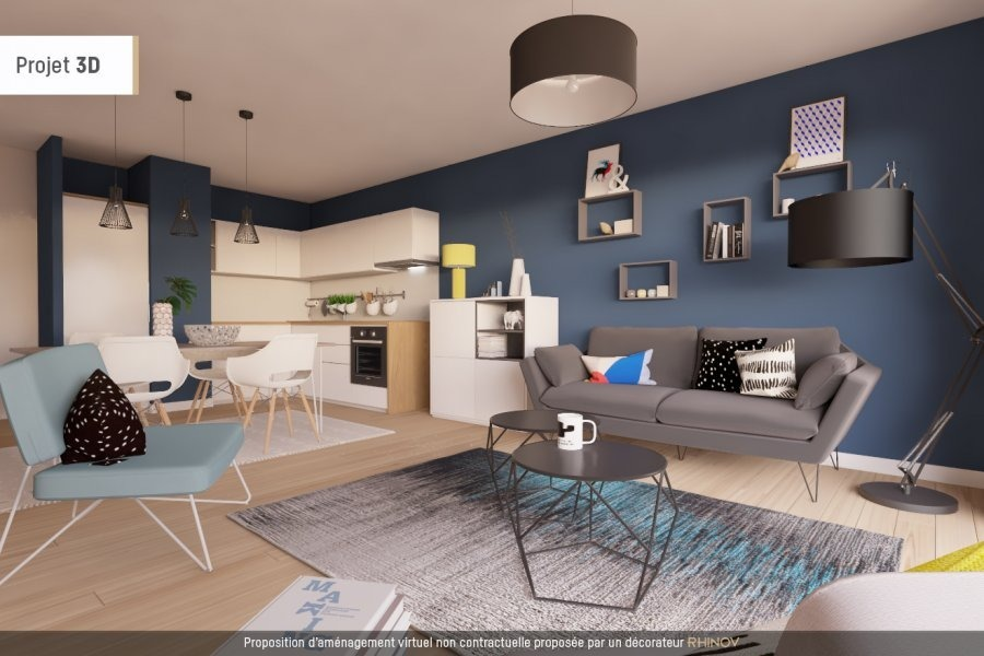 acheter appartement 3 pièces 63.6 m² longeville-lès-metz photo 3