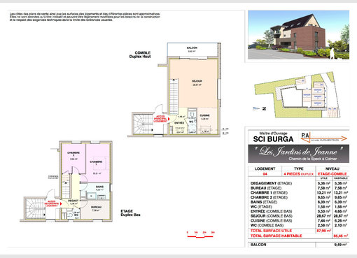 location appartement f4 colmar haut rhin r f 5626268. Black Bedroom Furniture Sets. Home Design Ideas