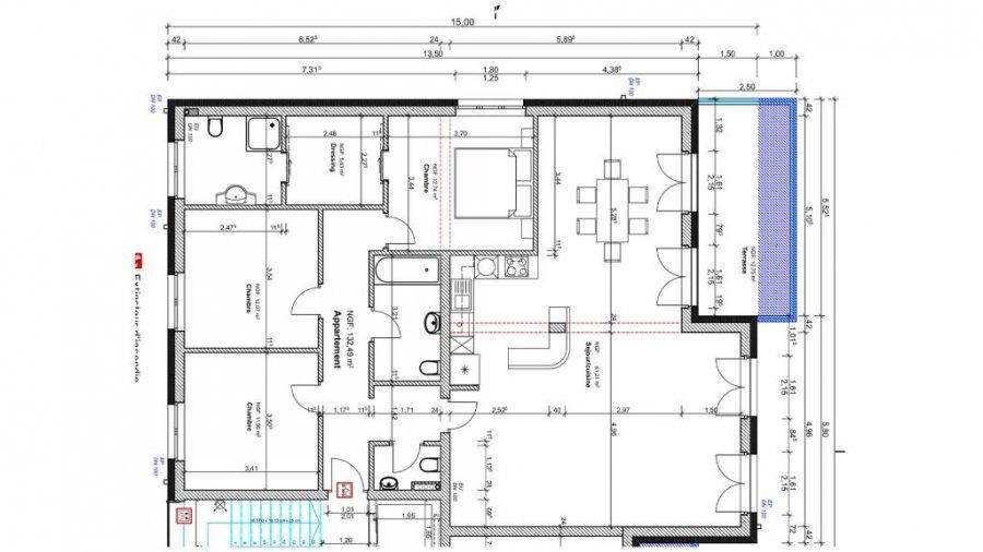 wohnung kaufen 3 schlafzimmer 132.49 m² junglinster foto 3