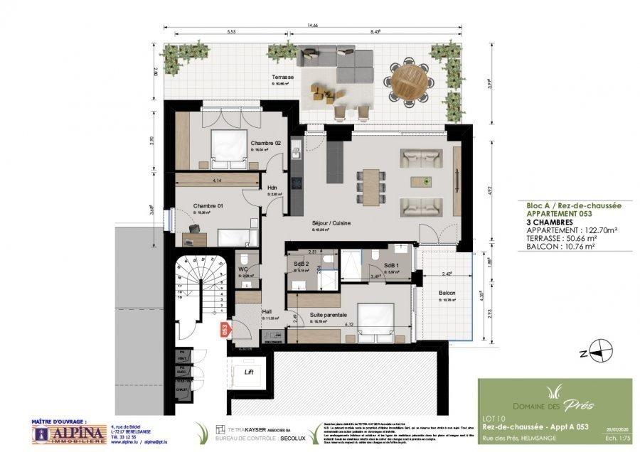 acheter appartement 3 chambres 122.67 m² walferdange photo 3