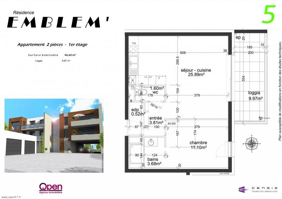 acheter appartement 2 pièces 46.6 m² hettange-grande photo 5