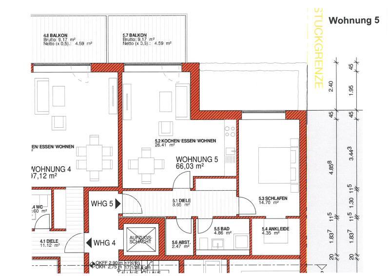 wohnung kaufen 2 zimmer 65.56 m² trier foto 5