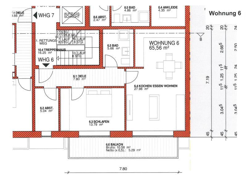 wohnung kaufen 2 zimmer 65.56 m² trier foto 2