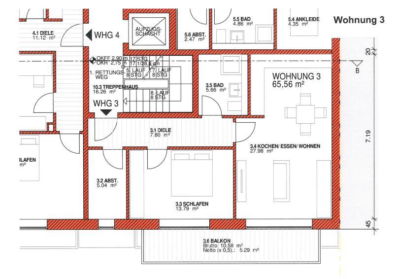 wohnung kaufen 2 zimmer 65.56 m² trier foto 4