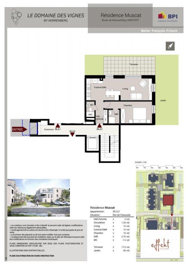 acheter appartement 1 chambre 53.57 m² mertert photo 2