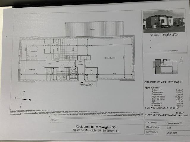 wohnung kaufen 4 zimmer 85.2 m² terville foto 2