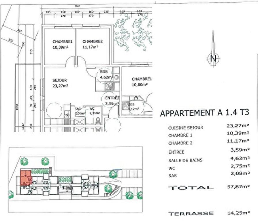 acheter appartement 3 pièces 59 m² village-neuf photo 3