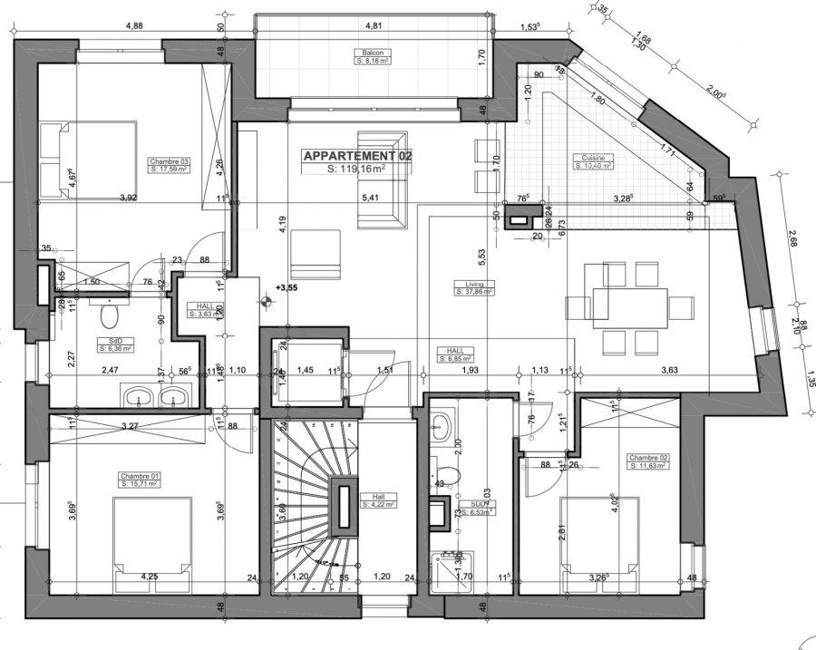Appartement à vendre 3 chambres à Hobscheid