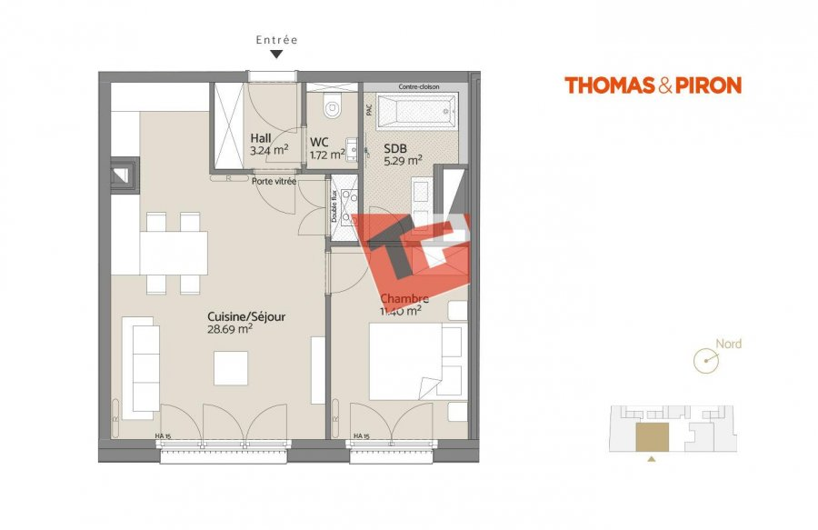 acheter appartement 1 chambre 52.32 m² luxembourg photo 2