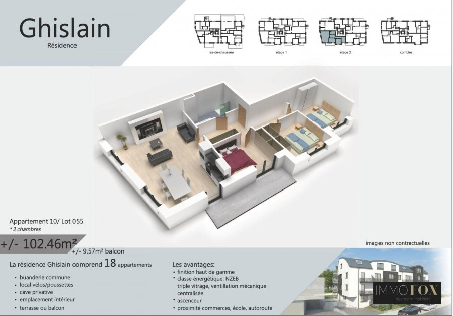 acheter appartement 3 chambres 107 m² rodange photo 3