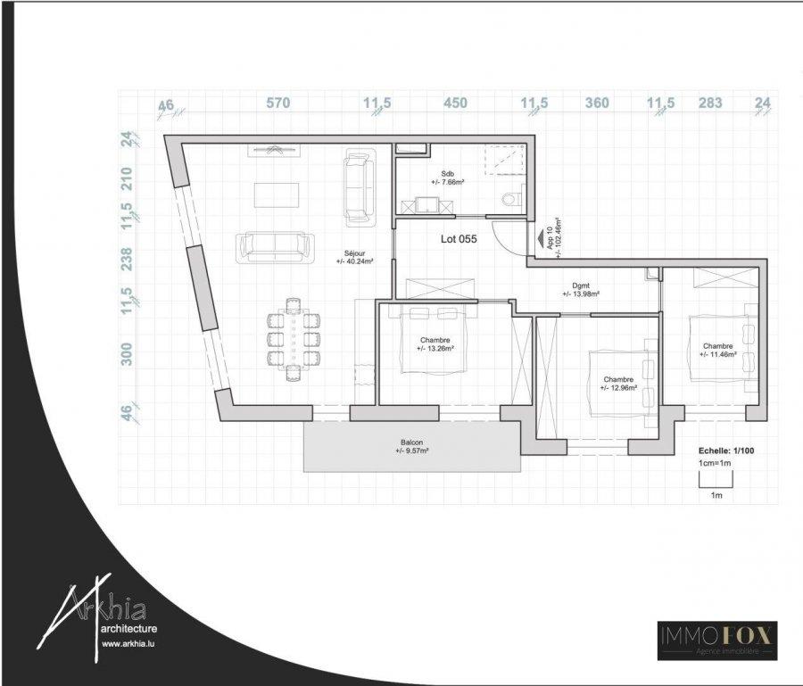 acheter appartement 3 chambres 107 m² rodange photo 2