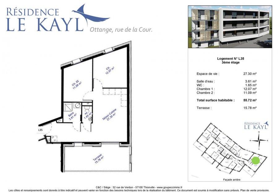 acheter appartement 3 pièces 55.72 m² ottange photo 4