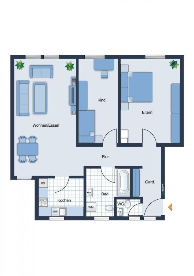 wohnung kaufen 3 zimmer 78.34 m² merzig foto 3