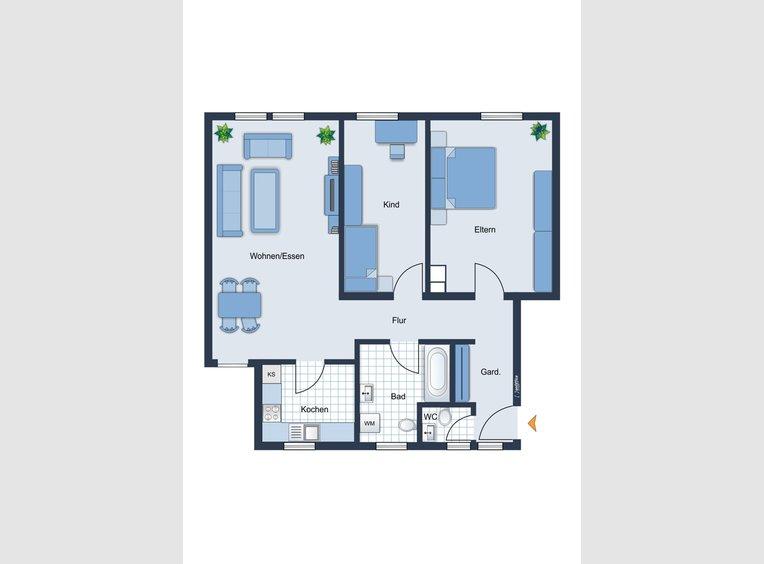 Appartement à vendre 3 Pièces à Merzig (DE) - Réf. 7230428