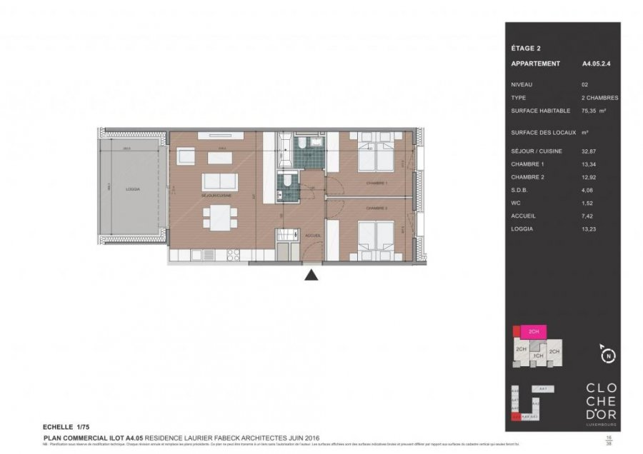 acheter appartement 2 chambres 83.82 m² luxembourg photo 4