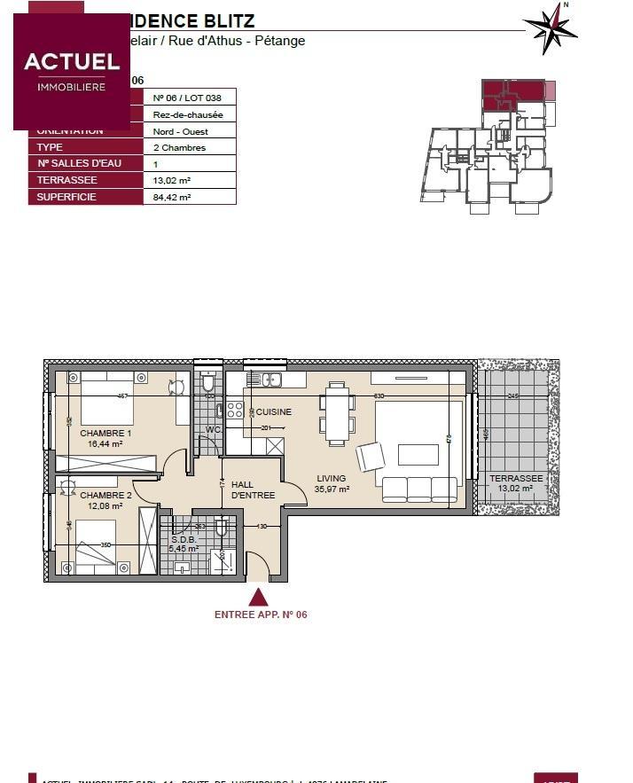 acheter appartement 1 chambre 91 m² pétange photo 3