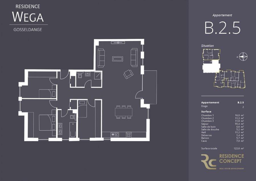 acheter appartement 3 chambres 123.6 m² gosseldange photo 2