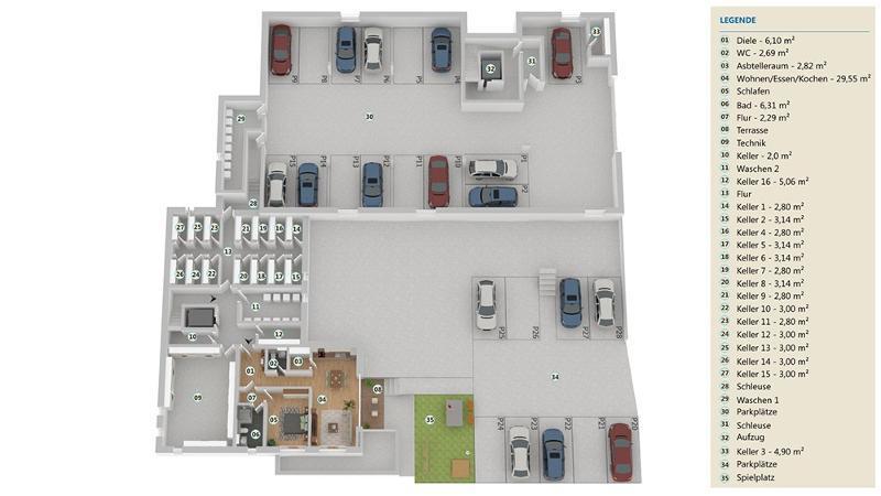 wohnung kaufen 3 zimmer 95.42 m² langsur foto 5