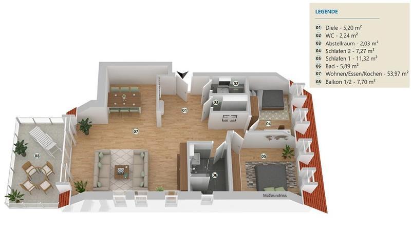 wohnung kaufen 3 zimmer 95.42 m² langsur foto 4
