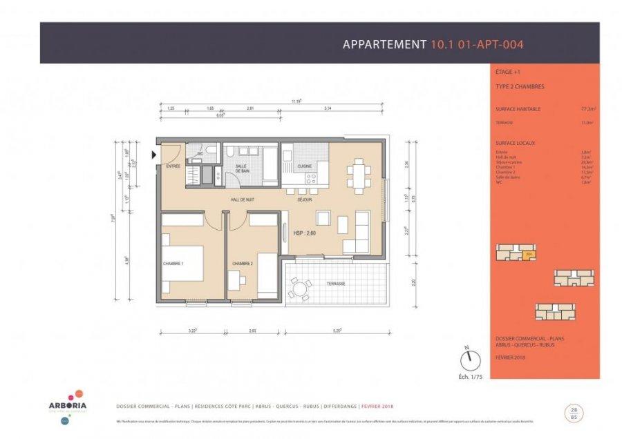 acheter appartement 2 chambres 82.77 m² differdange photo 4