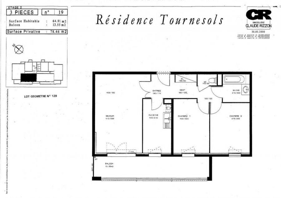 louer appartement 3 pièces 64 m² metz photo 3