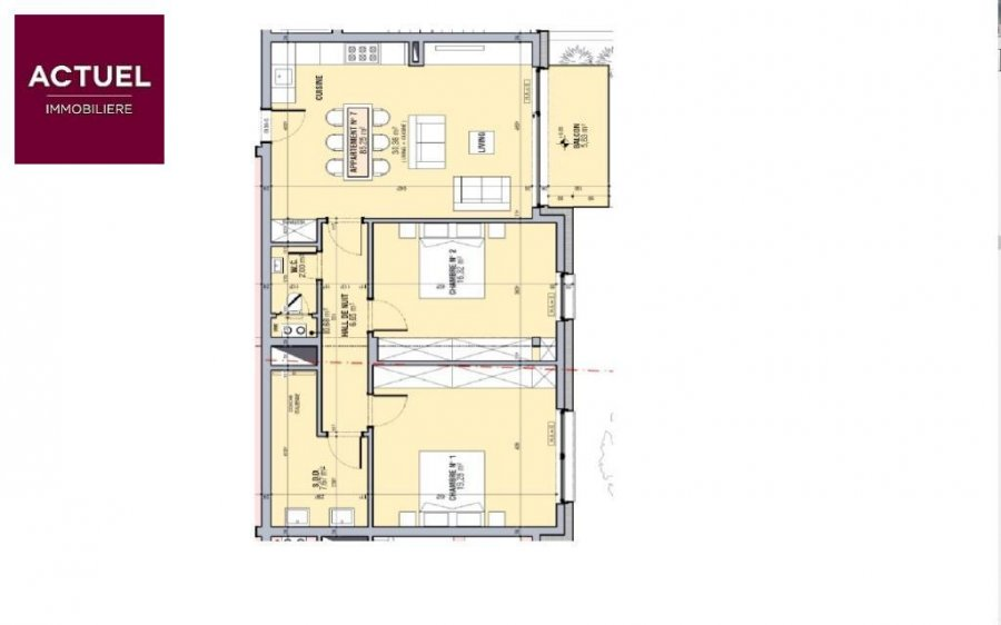 apartment for buy 2 bedrooms 85.25 m² alzingen photo 3