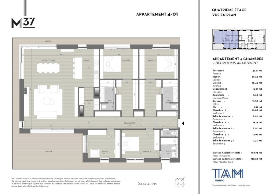 acheter penthouse 4 chambres 162.73 m² luxembourg photo 2