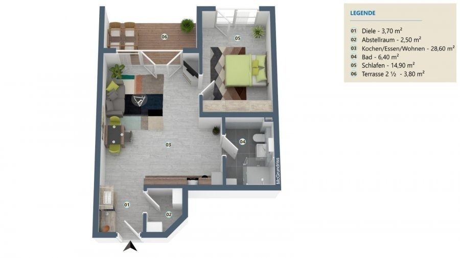 Wohnung zu verkaufen 1 Schlafzimmer in Palzem