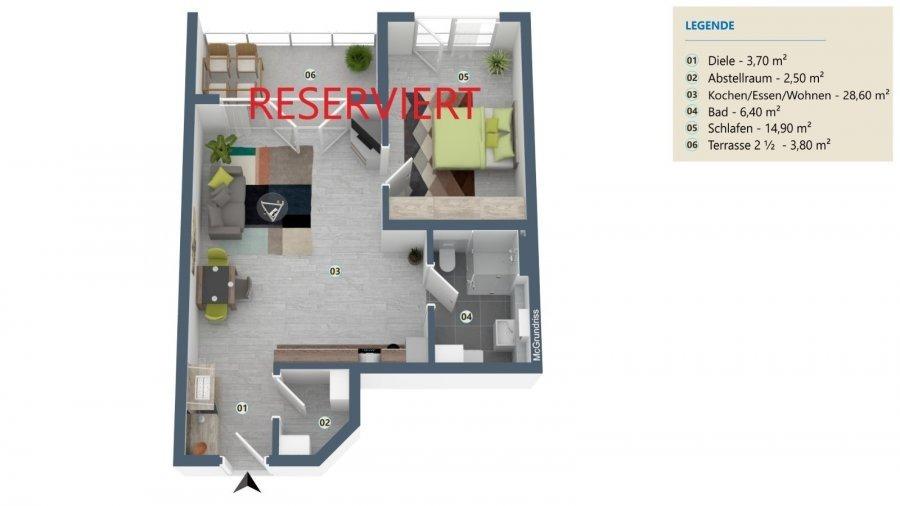 wohnung kaufen 2 zimmer 59.9 m² palzem foto 2