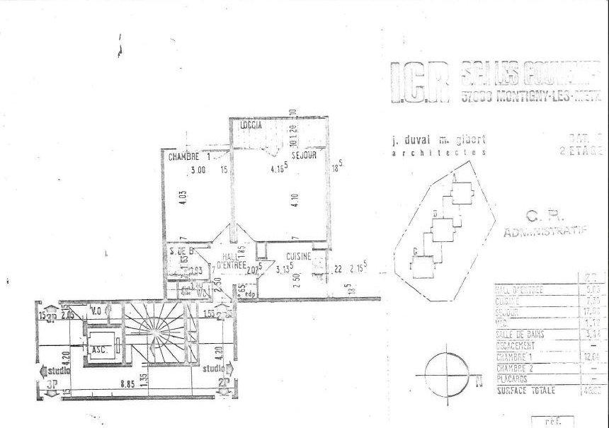 acheter appartement 2 pièces 45 m² montigny-lès-metz photo 2
