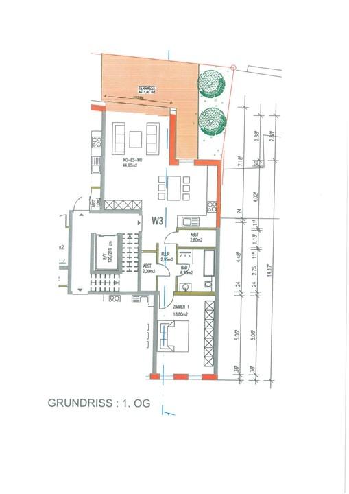 wohnung kaufen 3 zimmer 86.05 m² trier foto 2