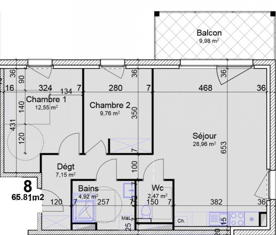 acheter appartement 3 pièces 65.81 m² yutz photo 4