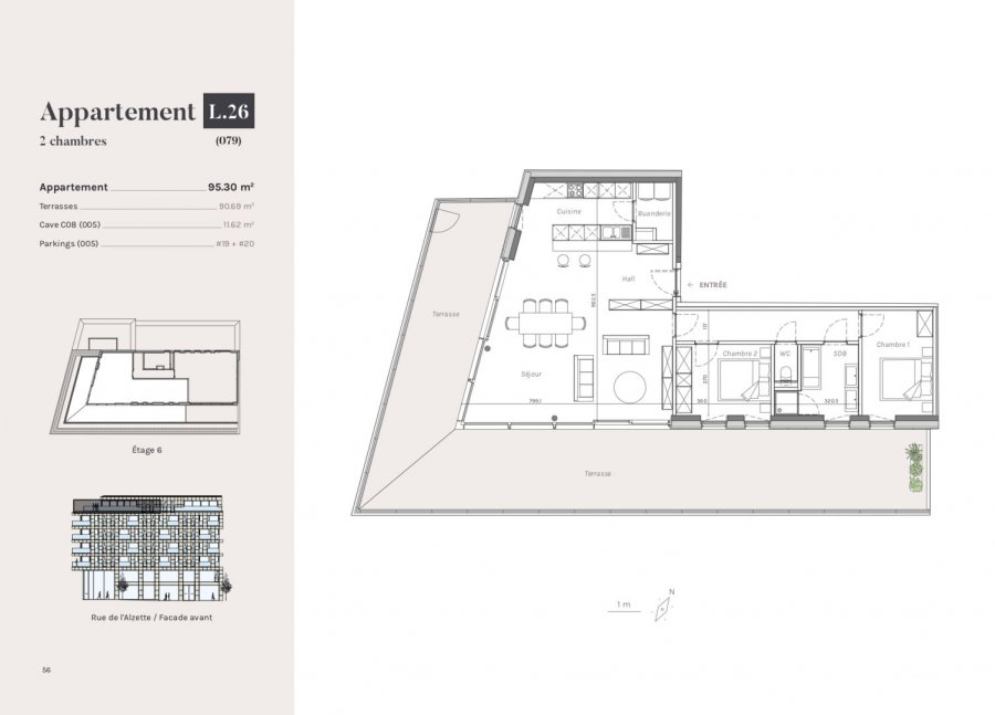 acheter penthouse 2 chambres 95.3 m² esch-sur-alzette photo 1
