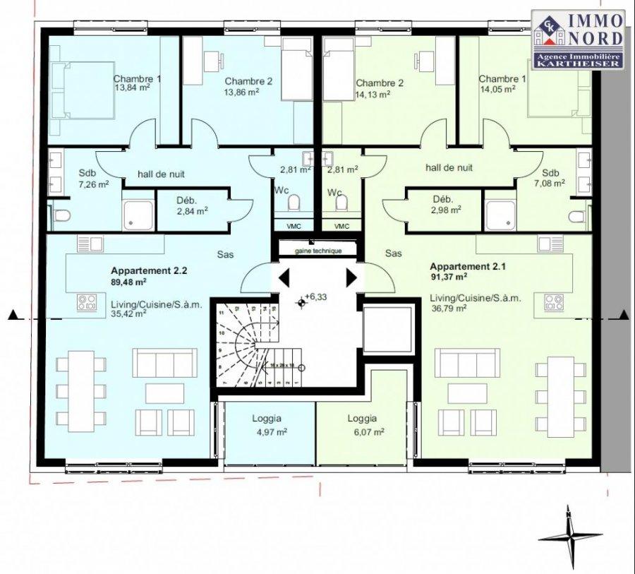 acheter résidence 0 chambre 89.48 à 93.73 m² diekirch photo 4
