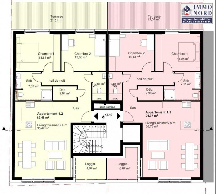 acheter résidence 0 chambre 89.48 à 93.73 m² diekirch photo 3