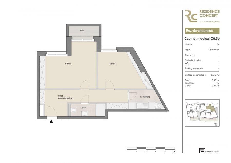 acheter bureau 0 chambre 61.79 m² luxembourg photo 1