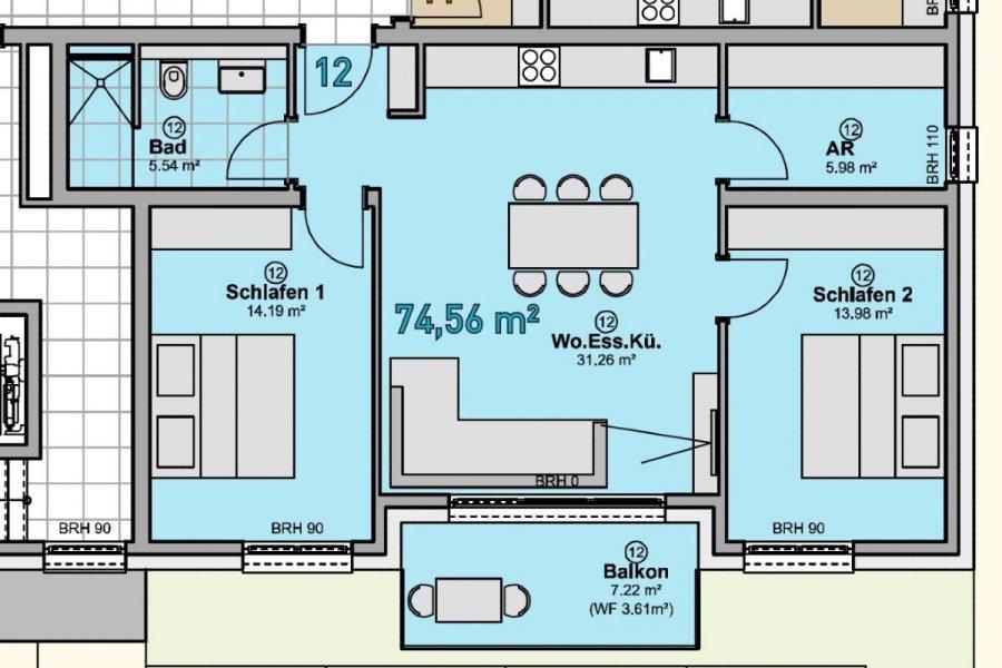 wohnung kaufen 3 zimmer 74.56 m² quierschied foto 5