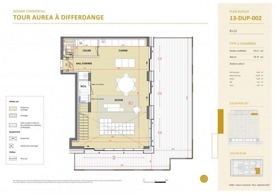 acheter duplex 3 chambres 129.3 m² differdange photo 5