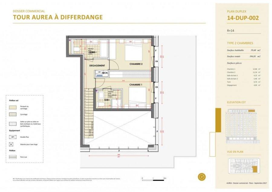 acheter duplex 3 chambres 129.3 m² differdange photo 6