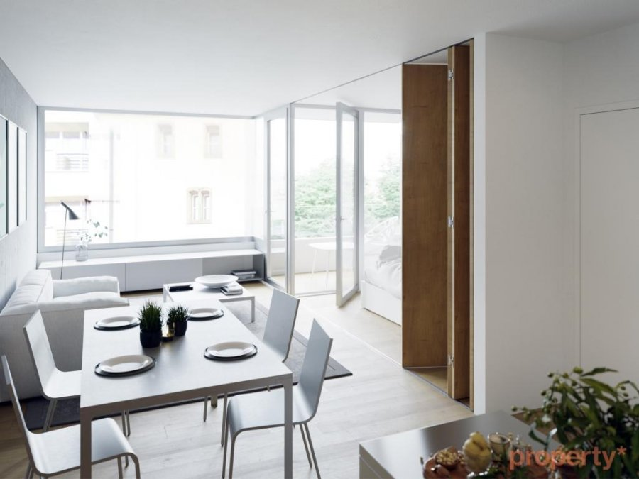 penthouse-wohnung kaufen 1 schlafzimmer 40 m² luxembourg foto 2