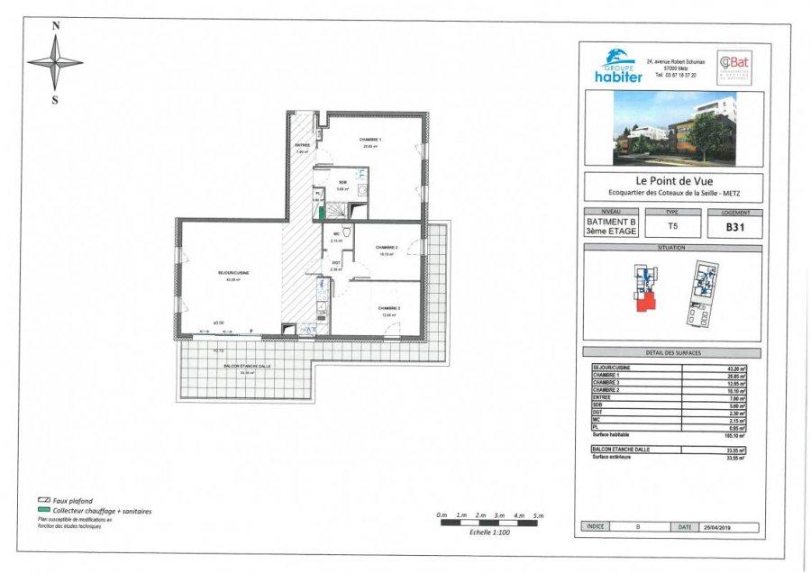 acheter appartement 5 pièces 105 m² metz photo 1